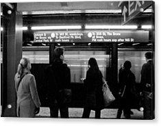 New York City Subway Acrylic Print by Patrick  Flynn