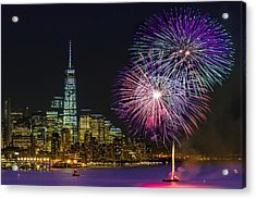 New York City Summer Fireworks Acrylic Print
