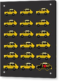 New York City Taxi Acrylic Print