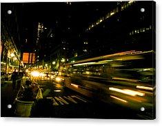 New York City Traffic Acrylic Print by Patrick  Flynn