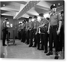 New York City Transit Police 1978 Acrylic Print by The Harrington Collection