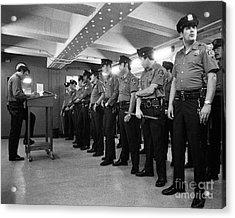 New York City Transit Police 1978 Acrylic Print
