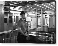 New York City Transit Police Officer 1978 Acrylic Print by The Harrington Collection