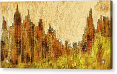 New York City In The Fall Acrylic Print by Alex Galkin