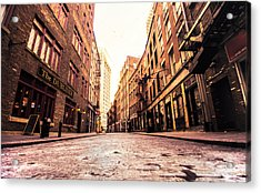 New York City's Stone Street Acrylic Print by Vivienne Gucwa
