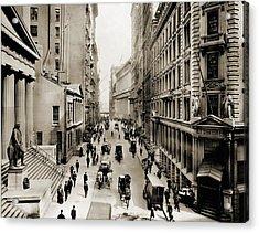 New York Citys Wall Street, Looking Acrylic Print by Everett