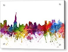 New York Cityscape 06 Acrylic Print by Aged Pixel