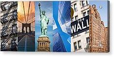 New York Collage Acrylic Print