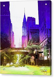 New York Colors Acrylic Print