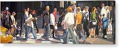 New York Crosswalk Acrylic Print by Merle Keller