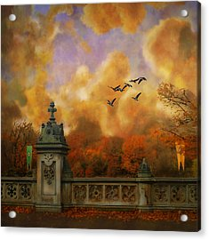 New York Fall - Central Park Acrylic Print by Jeff Burgess