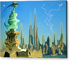 New York Fantasy Skyline - Modern Artwork Acrylic Print
