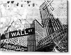 New York Four Acrylic Print by Melissa Smith
