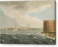 New York From Governors Island Acrylic Print by William Guy Wall