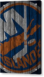 New York Islanders Wood Fence Acrylic Print