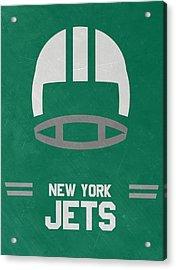 New York Jets Vintage Art Acrylic Print