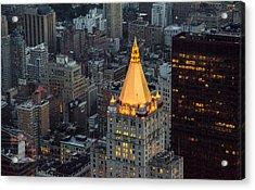 New York Life Insurance Building Acrylic Print by Priyanka Ravi