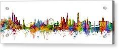 New York, London And Hong Kong Skyline Mashup Acrylic Print