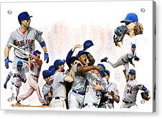 New York Mets 2015  Metropolitan Champions Acrylic Print