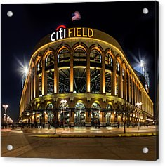 New York Mets Citi Field  Acrylic Print by Susan Candelario