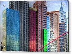 New York-new York - Las Vegas Acrylic Print by Neil Doren