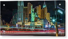 Acrylic Print featuring the photograph New York New York by Michael Rogers