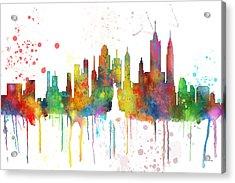 New York Ny Skyline Acrylic Print