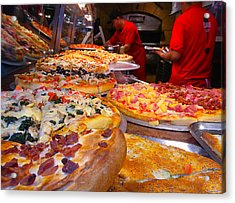 New York Pizza Acrylic Print by Steve Zimic