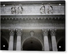 New York Public Library- Art By Linda Woods Acrylic Print by Linda Woods