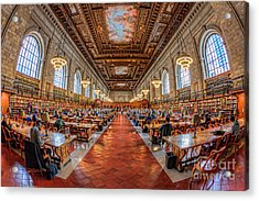 New York Public Library Main Reading Room I Acrylic Print