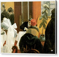 New York Restaurant Acrylic Print by Edward Hopper