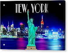 New York Shines Acrylic Print