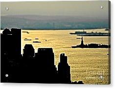 New York Silhouette Acrylic Print by Alessandro Giorgi Art Photography