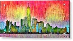 New York Skyline 3 - Da Acrylic Print
