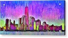 New York Skyline 7 - Pa Acrylic Print by Leonardo Digenio