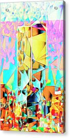 Acrylic Print featuring the photograph New York Skyline 911 Twin World Trade Center In Abstract Cubism 20170326 by Wingsdomain Art and Photography