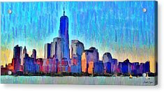 New York Skyline - Da Acrylic Print by Leonardo Digenio