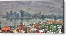Acrylic Print featuring the photograph New York Skyline by David Bishop