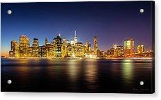 New York Skyline Acrylic Print by Marvin Spates