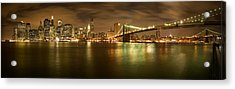 New York Skyline Acrylic Print by Shubhra Pandit