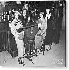 New York Society Women Enjoy Their First Legal Drink After The Repeal Of The Volstead Act In 1933 Acrylic Print by American School