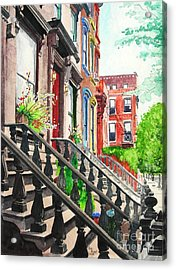 New York Steps Acrylic Print by Tom Riggs