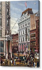 New York Stock Exchange In 1882 Acrylic Print by Everett