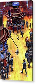 Acrylic Print featuring the painting New York Stock Exchange by Lesley Spanos