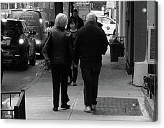 Acrylic Print featuring the photograph New York Street Photography 75 by Frank Romeo