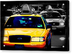 New York Taxi Acrylic Print by Christopher Woods