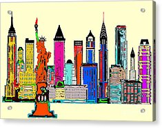 New York - The Big City Acrylic Print