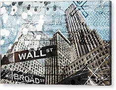 New York Three Acrylic Print by Melissa Smith