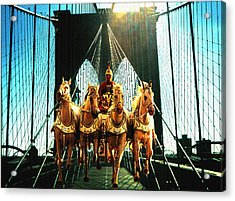 New York Time Machine - Fantasy Art Collage Acrylic Print by Art America Gallery Peter Potter