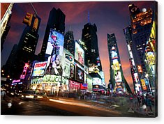 Acrylic Print featuring the photograph New York Cityscape by Michalakis Ppalis